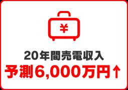 20年間売電収入 予測6000万円↑